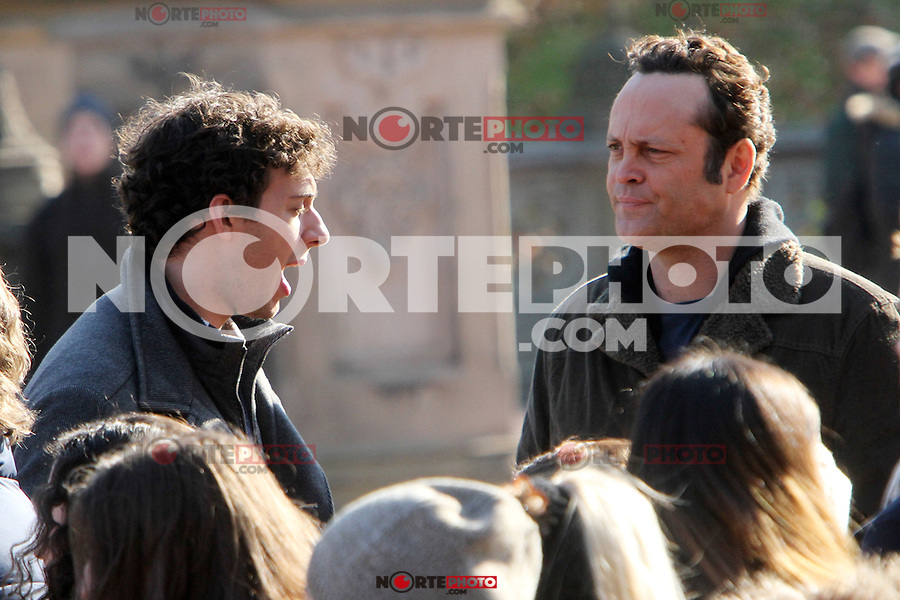 NEW YORK, NY - NOVEMBER 26: Vince Vaughn on the set of The Delivery Man in New York City. November 26, 2012. Credit: RW/MediaPunch Inc. /NortePhoto