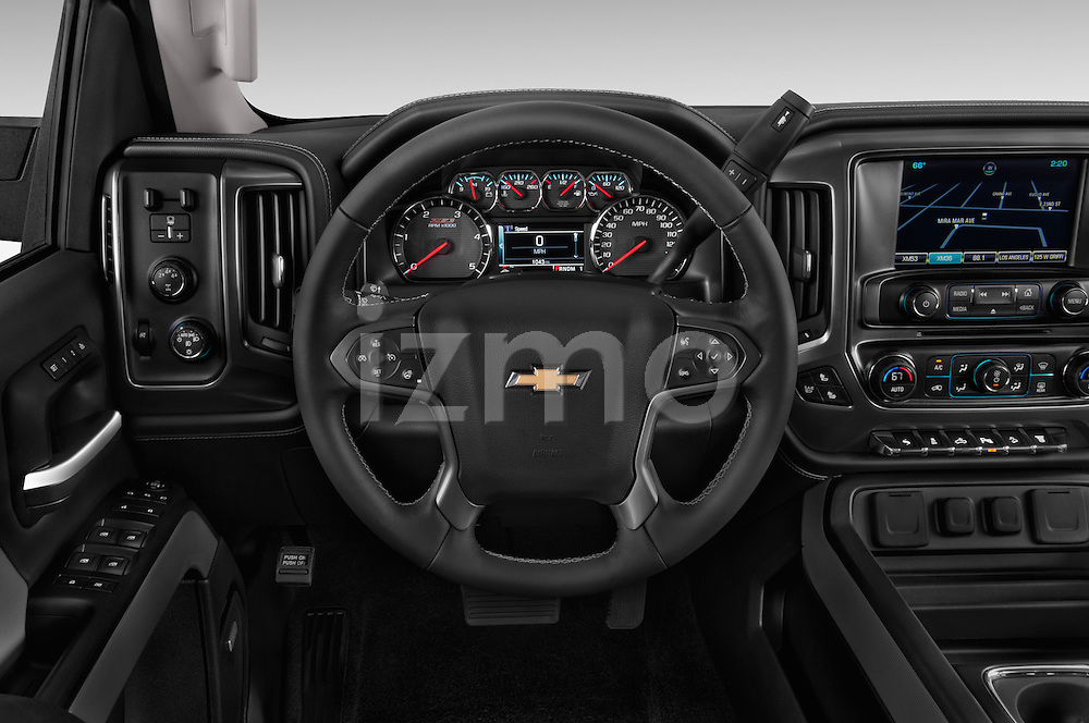 Car pictures of steering wheel view of a 2015 Chevrolet Silverado 2500 4 Door Van