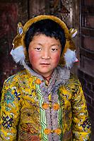 Amdo, Tibet 2006. Tibet girl at Lake Manasarvar, Western Tibet, 2006