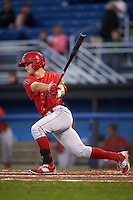 Williamsport Crosscutters shortstop Chandler Hall (13) at bat during a game against the Batavia Muckdogs on September 2, 2016 at Dwyer Stadium in Batavia, New York.  Williamsport defeated Batavia 9-1. (Mike Janes/Four Seam Images)
