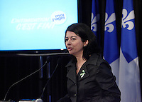 MONTREAL, CANADA - File Photo - Line Beauchamps, Education Minister in 2012