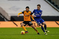 7th February 2021; Molineux Stadium, Wolverhampton, West Midlands, England; English Premier League Football, Wolverhampton Wanderers versus Leicester City; João Moutinho of Wolverhampton Wanderers moves to his right to protect the ball