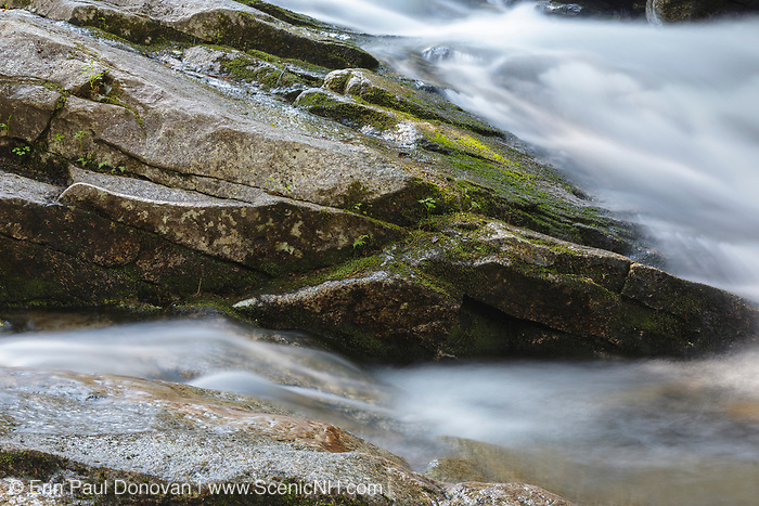 Norway Rapids along Avalanche Brook in Waterville Valley, New Hampshire USA. This area was logged during the Mad River Drainage Logging Era.
