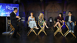 Michael Grandage, Patti Murin, Caissie Levy, Kristen Anderson-Lopez and Robert Lopez attends the press day for 'Frozen' The Broadway Musical on February 13, 2018 at the Highline Hotel in New York City.