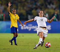 Lauren Cheney. The USWNT defeated Brazil, 1-0, to win the gold medal during the 2008 Beijing Olympics at Workers' Stadium in Beijing, China.