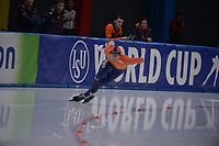 SPEEDSKATING: 24-11-2019 Tomaszów Mazowiecki (POL), ISU World Cup Arena Lodowa, 500m Men Division A, Lennart Velema (NED), ©photo Martin de Jong