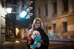 Ksenia, 22, a frequenter visitor of Moscow Marusya, women club is pictured in a street in Moscow, the next day after a party. Moscow. Russia. 2014