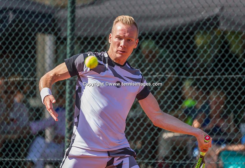 Etten-Leur, The Netherlands, August 27, 2017,  TC Etten, NVK, Wouter den Bakker (NED)<br /> Photo: Tennisimages/Henk Koster