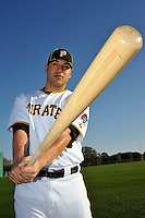 Feb 28, 2010; Bradenton, FL, USA; Pittsburgh Pirates  catcher Jason Jaramillo (35) during  photoday at Pirate City. Mandatory Credit: Tomasso De Rosa/ Four Seam Images