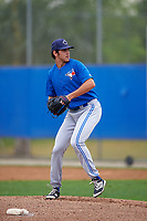 Toronto Blue Jays Jordan Romano (22) during a minor league Spring Training game against the Philadelphia Phillies on March 26, 2016 at Englebert Complex in Dunedin, Florida.  (Mike Janes/Four Seam Images)