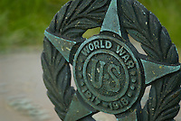 A World War I veteran's grave marker in an Ohio cemetery.<br />