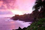 Sunset over Pacific, Puna, Hawaii