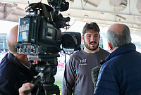 Monday 21st October 2019 | Ulster Rugby Match Briefing vs Cardiff<br /> <br /> Tom O'Toole - Ulster Rugby Match Briefing ahead of Ulster PRO14 League clash against Cardiff Blues at Kingspan Stadium, Ravenhill Park, Belfast, Northern Ireland. Photo by John Dickson / DICKSONDIGITAL