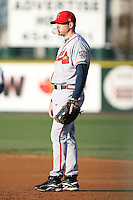 April 15th 2008:  Infielder Scott Thorman (20) of the Richmond Braves, Class-AAA affiliate of the Atlanta Braves, during a game at Frontier Field in Rochester, NY.  Photo by:  Mike Janes/Four Seam Images
