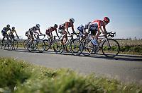 Kris Boeckmans (BEL/Lotto-Soudal) leading the race<br /> <br /> 3 Days of West-Flanders 2015<br /> stage 2: Nieuwpoort - Ichtegem 184km