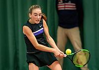 Wateringen, The Netherlands, December 8,  2019, De Rhijenhof , NOJK juniors 14 and18 years, Finals 14 years: Annelin Bakker (NED)<br /> Photo: www.tennisimages.com/Henk Koster