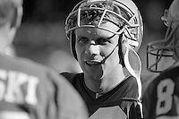 SAN FRANCISCO, CA - Quarterback Joe Montana of the San Francisco 49ers stands on the sidelines during a game against the St. Louis Cardinals at Candlestick Park in San Francisco, California in 1986. Photo by Brad Mangin