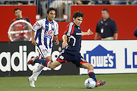 New England Revolution defender Michael Parkhurst (15). The New England Revolution defeated Pachuca CF 1-0 during a Group B match of the 2008 North American SuperLiga at Gillette Stadium in Foxborough, Massachusetts, on July 16, 2008.