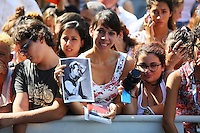 Fans attend the 'Black Mass' arrivals during the 72nd Venice Film Festival at the Palazzo Del Cinema, in Venice, Italy, September 4, 2015.<br /> UPDATE IMAGES PRESS/Stephen Richie