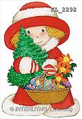 Interlitho, Soledad, CHRISTMAS CHILDREN, naive, paintings, girl, basket(KL2292,#XK#) Weihnachten, Navidad, illustrations, pinturas