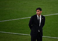 Football: Uefa Europa League - semifinal 2nd leg AS Roma vs Manchester United Olympic Stadium. Rome, Italy, May 6, 2021.<br /> Roma's coach Paulo Fonseca looks on during the Europa League football match between Roma and Manchester United at Rome's Olympic stadium, Rome, on May 6, 2021.  <br /> UPDATE IMAGES PRESS/Isabella Bonotto