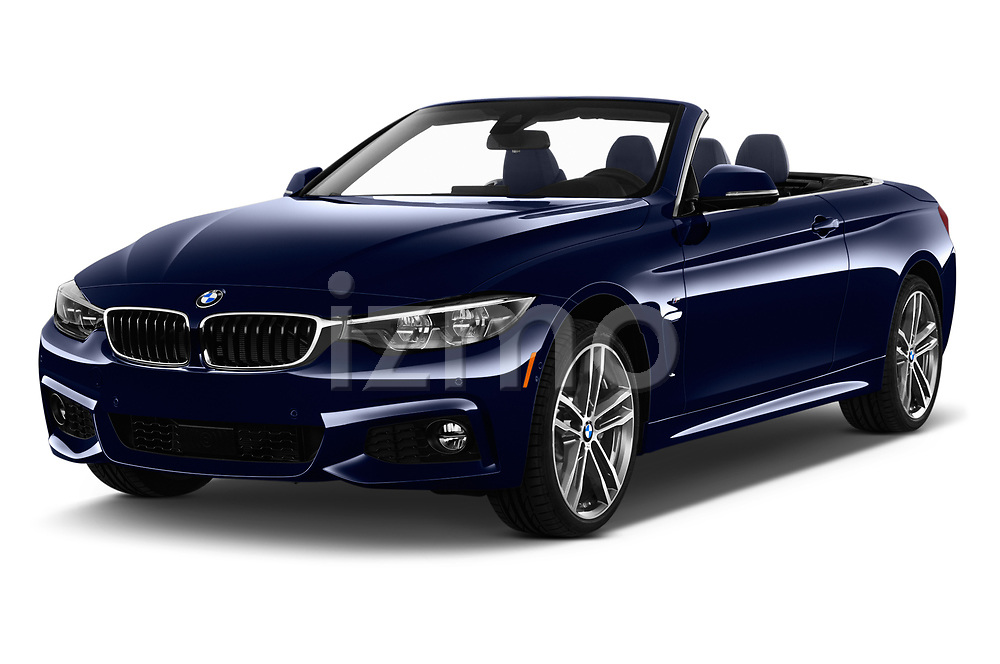 2018 BMW 4 Series 430i M Sport 2 Door Convertible angular front stock photos of front three quarter view
