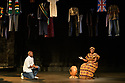 """York, UK. 09.09.2021. """"Mugabe, My Dad, and Me"""", written and performed by Tonderai Munyevu, opens at York Theatre Royal, and runs from the  9th to the 18th September 2021. The production is directed by John R Wilkinson, set and costume design is by Nicolai Hart-Hansen, sound design by Nigel Glasgow. Xolani Crabtree is assistant director. The cast is: Tonderai Munyevu (himself) and Millie Chapanda (musician). It is a joint production between York Theatre Royal and English Touring Theatre. Photograph © Jane Hobson."""