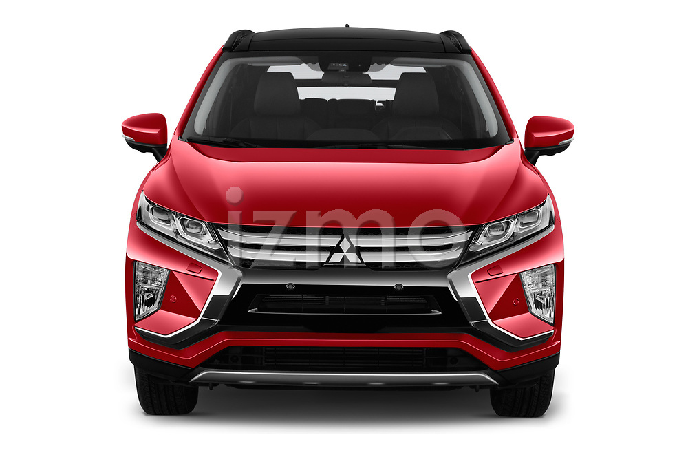 Car photography straight front view of a 2018 Mitsubishi Eclipse Cross Style 5 Door SUV