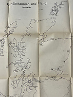 BNPS.co.uk (01202) 558833.<br /> Pic: HenryAldridge&Son/BNPS<br /> <br /> Pictured: A map of Great Britain and Ireland.<br /> <br /> Top secret documents outlining the planned Nazi invasion of Britain have sold 81 years later for £2,000.<br /> <br /> The rare set of books and maps, which come in their original folder, provide a chilling insight into how Britain might have looked had Germany won the Second World War.<br /> <br /> The plans set out Britain's civilian and military make-up in unnerving detail, outlining Germany's full preparedness to attack.