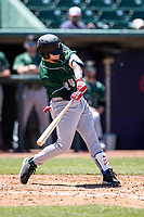 Great Lakes Loons outfielder Andy Pages (44) swings the bat on May 30, 2021 against the Lansing Lugnuts at Jackson Field in Lansing, Michigan. (Andrew Woolley/Four Seam Images)