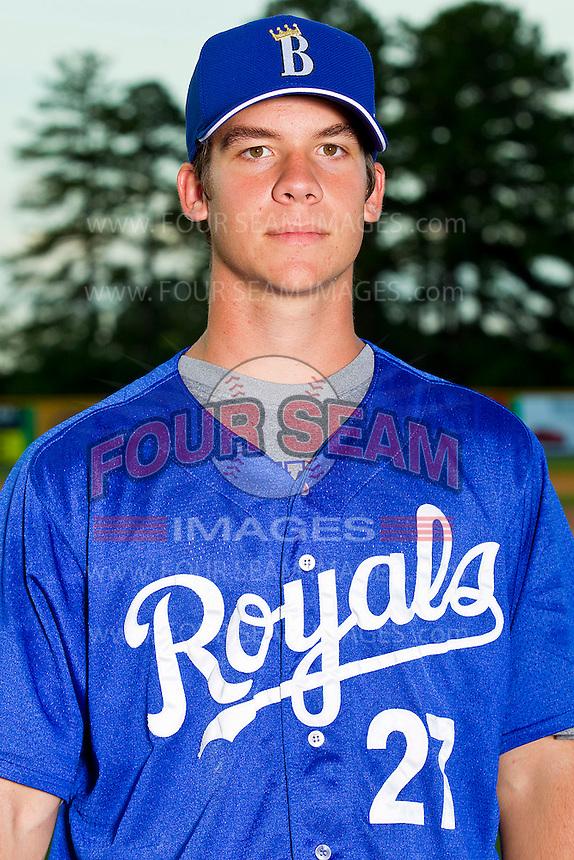 Colin Rodgers #27 of the Burlington Royals at Burlington Athletic Park on June 15, 2012 in Burlington, North Carolina.  (Brian Westerholt/Four Seam Images)