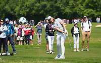Rory McIlroy (Northern Ireland) hits a champions league ball with his golf club during the BMW PGA PRO-AM GOLF at Wentworth Drive, Virginia Water, England on 23 May 2018. Photo by Andy Rowland.