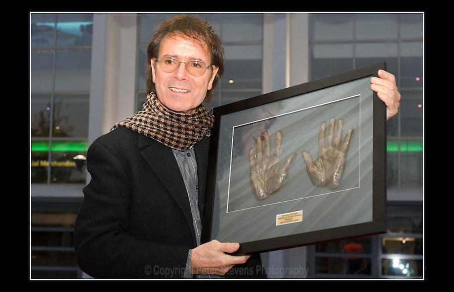 Cliff Richard OBE - Square of Fame - Arena Square, London - 9th November 2006