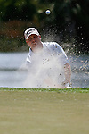 PALM BEACH GARDENS, FL. - John Rollins from the sand trap on hole 6 during final round play at the 2009 Honda Classic - PGA National Resort and Spa in Palm Beach Gardens, FL. on March 8, 2009.