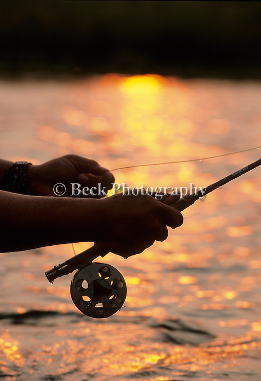 Anglers hands on the Bighorn River, Montana