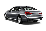 Car pictures of rear three quarter view of 2017 BMW 7 Series 750i M Sport 4 Door Sedan Angular Rear
