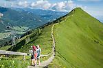 Austria, Vorarlberg, Kleinwalsertal, Riezlern: a short hike from Kanzelwand upper station at 1.956 m to view point Rote Wand at 1.956 m | Oesterreich, Vorarlberg, Kleinwalsertal, oberhalb Riezlern: von der Kanzelwandbahn Bergstation auf 1.956 m ist es nur ein kurzer Fussweg zum Aussichtspunkt Rote Wand 1.965 m