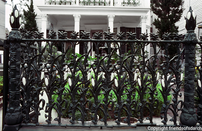 New Orleans:  Cornstalk Fence Hotel, Royal St.--cast iron fence.
