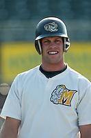 Brian Stavisky of the Modesto Athletics before a 2004 season California League game against the Island Empires 66ers at San Manuel Stadium in San Bernardino, California. (Larry Goren/Four Seam Images)