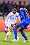 Ali Jaafar Madan of Bahrain is challenged by Rowllin Borges of India during the AFC Asian Cup UAE 2019 Group A match between India (IND) and Bahrain (BHR) at Sharjah Stadium on 14 January 2019 in Sharjah, United Arab Emirates. Photo by Marcio Rodrigo Machado / Power Sport Images