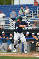 Vermont Lake Monsters outfielder Seth Brown (8) at bat during a game against the Batavia Muckdogs August 9, 2015 at Dwyer Stadium in Batavia, New York.  Vermont defeated Batavia 11-5.  (Mike Janes/Four Seam Images)