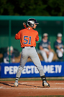 Steven Michael Medina (51) during the WWBA World Championship at Lee County Player Development Complex on October 9, 2020 in Fort Myers, Florida.  Steven Michael Medina, a resident of Miami, Florida who attends South Miami Senior High School.  (Mike Janes/Four Seam Images)
