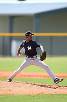 FCL Yankees pitcher Denny Larrondo (11) during a game against the FCL Tigers West on July 31, 2021 at Tigertown in Lakeland, Florida.  (Mike Janes/Four Seam Images)