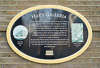 Sign for the Hay's Galleria, located on the South Bank, London, England
