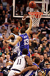 Connecticut  forward Rudy Gay (22) shoots over Kentucky forward Bobby Perry (13).  Connecticut defeated Kentucky 87-83 in the second round of the NCAA Tournament  at the Wachovia Center in Philadelphia, Pennsylvania on March 19, 2006.