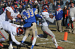 Bishop Gorman's Biaggio Ali Walsh (7) rushes for a touchdown past Reed defender Kyeer Geisinger during an NIAA Division I playoff game at Reed High School in Sparks, Nev., on Saturday, Nov. 28, 2015. Bishop Gorman won 41-13. (Cathleen Allison/Las Vegas Review-Journal)
