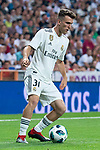 Real Madrid Sergio Lopez during Santiago Bernabeu Trophy match at Santiago Bernabeu Stadium in Madrid, Spain. August 11, 2018. (ALTERPHOTOS/Borja B.Hojas)