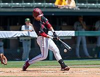 STANFORD, CA - JUNE 4: Nick Brueser during a game between North Dakota State and Stanford Baseball at Sunken Diamond on June 4, 2021 in Stanford, California.