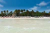 Empty Beach Beds On Bai Sao Beach, Phu Quoc, Vietnam