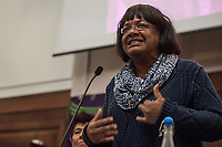 Stand Up To Racism Conference 2017. Held in central London. 22-10-17 Diane Abbott MP.